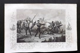 Tyrrell Crimean War 1858 Antique Print. General Windham in the Redan